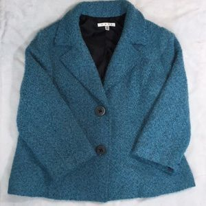 CAbi wool blend blazer beautiful blue sz 14